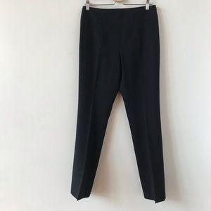 Akris punto black wool blend trouser pants